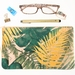 Monstera and Fern Leaves Zipper Pouch, Cosmetic Bag