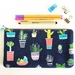 Potted Plants Makeup Bag, Zipper Pouch, Pencil Case