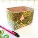 Mini Fabric Basket in Succulents