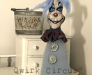 CLARenCe thE ViNTaGE CLoWn ~  Fabric/Cloth Fantasy Character Art Doll