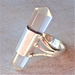 Sterling Silver Quartz Point Ring