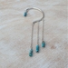 Sterling Silver and Agate Ear cuff