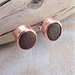 Silver and Copper Beach Stone Studs