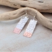 Rectangle Silver and Copper Earrings.