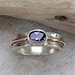 Iolite (water Sapphire) Silver and 9ct Gold Ring