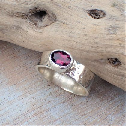 Dark Rubalite (Pink Tourmaline) Ring.