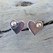 Silver and 9ct Gold Heart Stud Earrings