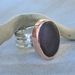 Silver and Copper Beach Stone Ring