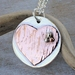 Silver and Copper Heart Necklace