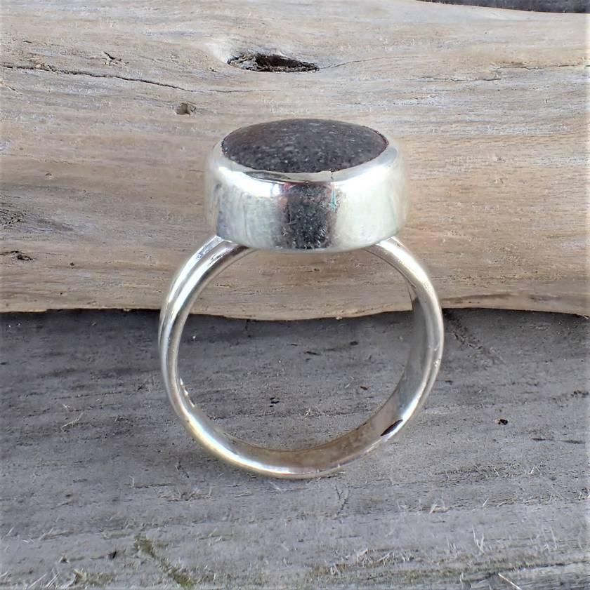 Silver Beach Stone Ring