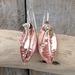 Flower Petal Copper and Silver Earrings.