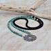 BoHo Mandala Zoisite and Lava Beads