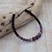 Amethyst and Black Stone Bracelet.