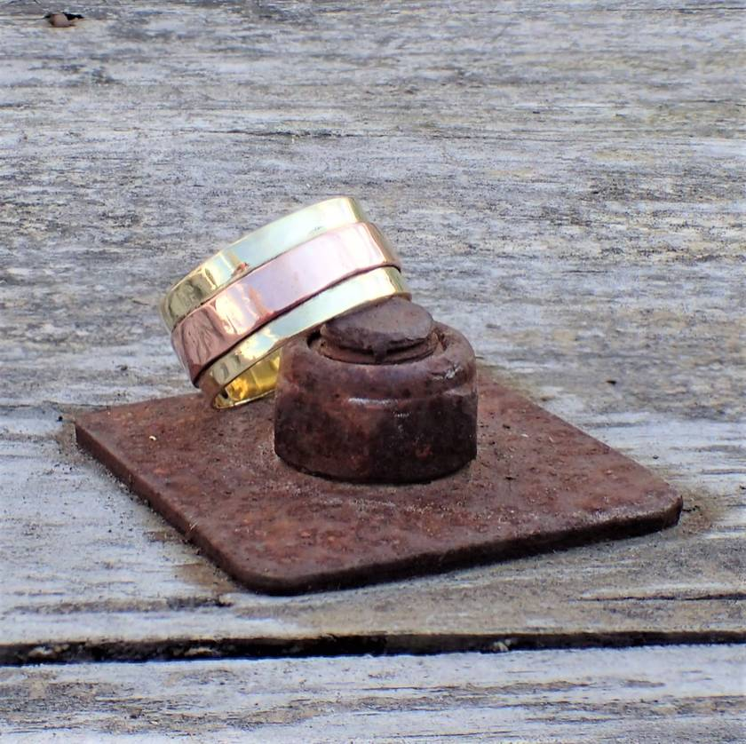 New Brass and Copper Ring