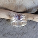 Kunzite 9ct Silver Ring.