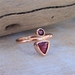 Handmade 9ct Gold Ruby and Rubalite (Pink Tourmaline) Ring