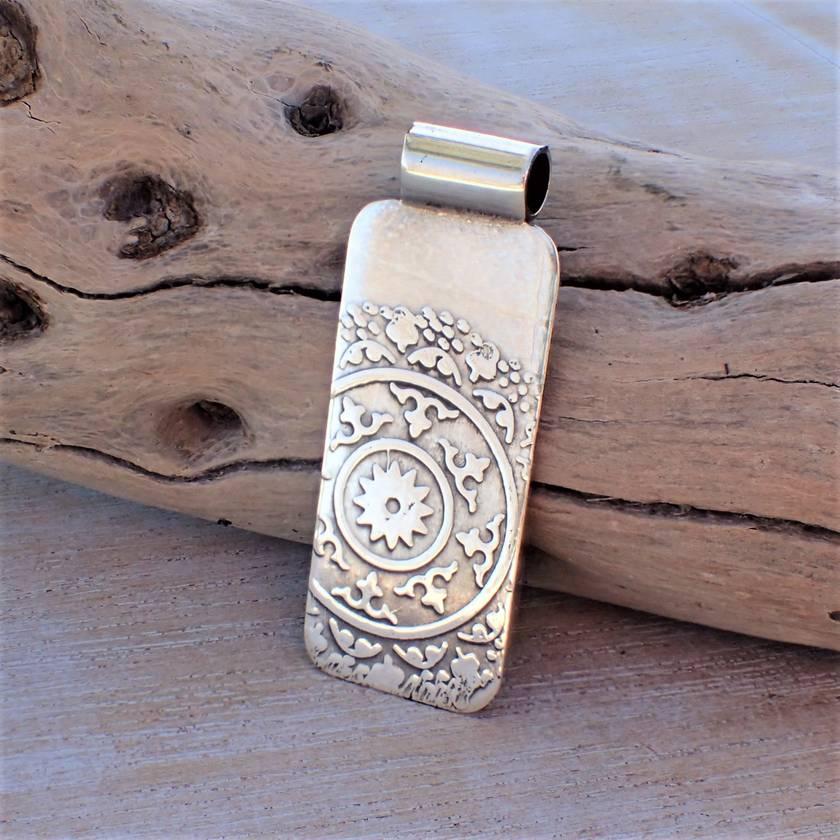 Silver Mandala Pendant.