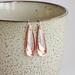 Teardrop Silver and Copper Earrings.