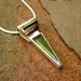 Tourmaline Gold and Silver Pendant