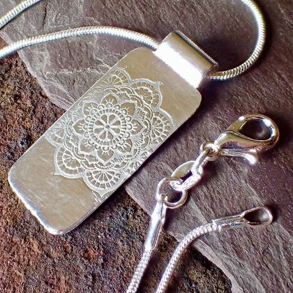 Silver Mandala Pendant Necklace