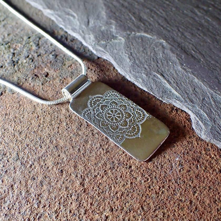 Silver Mandala Pendant Necklace