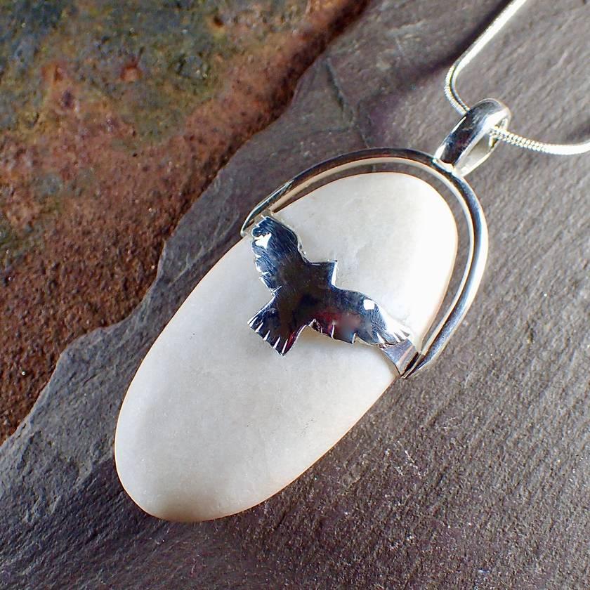 Quartz and Kahu Pendant Necklace