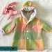 Toddler wool jacket - Pink forest friends- size 2