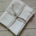 Set of two linen hand towels, tea towels, bathroom towel, guest towel, natural linen, housewarming gift,