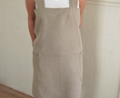 Linen apron, Cross back apron, Japanese apron, No tie apron, womens apron,natural linen, washed linen apron