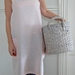 REDUCED - Pale pink, washed linen, japanese style, cross back, apron