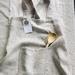 Children's cross back linen apron