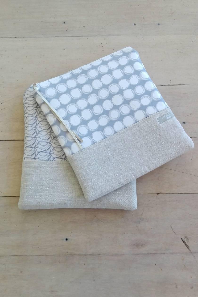 Large padded electronics bag, stash bag, iPad cover, make up/cosmetics bag