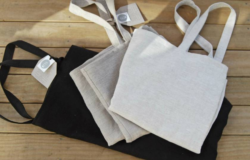 Oversize linen tote bag/market bag/beach bag/re-usable grocery bag