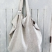 Oversize linen tote bag/market bag/beach bag/re-usable grocery bag
