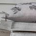 Hand printed 100% heavyweight linen cushion cover 50cm x 50cm
