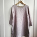 Linen tunic dress in dusky pink chambray