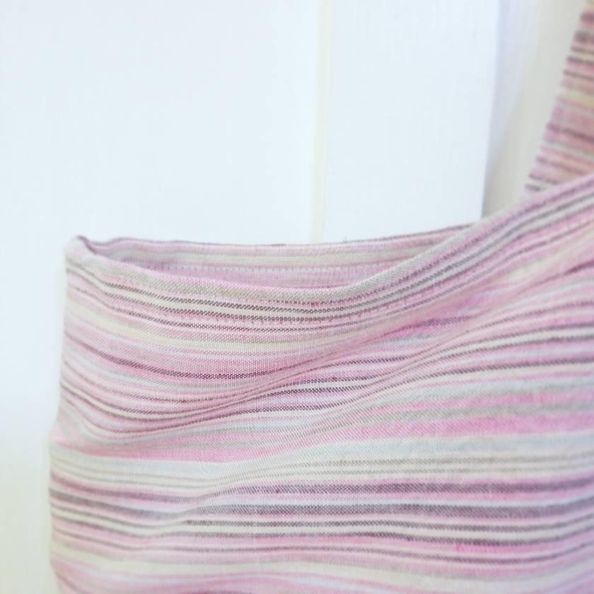 SALE WAS $50, NOW $30  Striped linen oversize beach bag