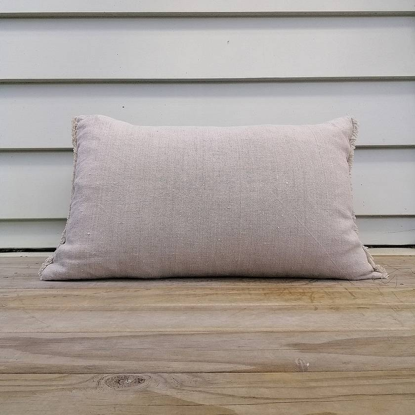 SALE - WAS $45, NOW $30  Frayed linen cushion cover