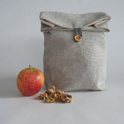Linen lunch sack - REDUCED 30% off
