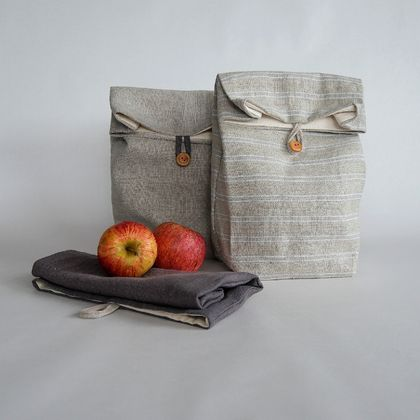 REDUCED - 50% OFF Linen lunch sack