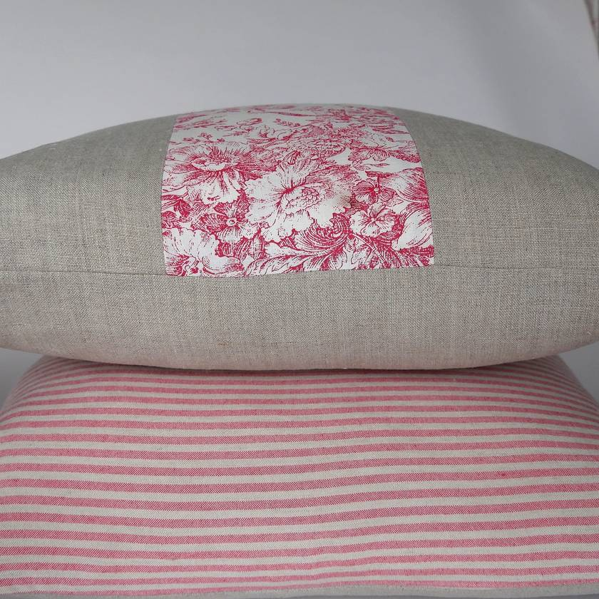 SALE - WERE  $50, NOW $30 each. Linen and vintage cotton cushion covers