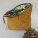 Mustard velvet storage bag
