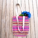 Woven fabric tote bag (Summer Brights)