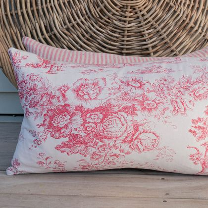 Reduced - Pair of chintz/linen cushion covers.