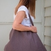 Large cocoa linen market bag