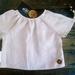 """ROBIN""  Vintage Inspired Shirt in Cream Organic Linen"