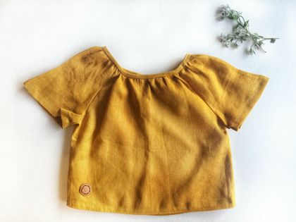 Tee Shirt | Tunic | Blouse | Short Sleeve | Organic Linen | Unisex |  Baby or Toddler Clothes