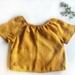 Organic Linen Tee - Mustard