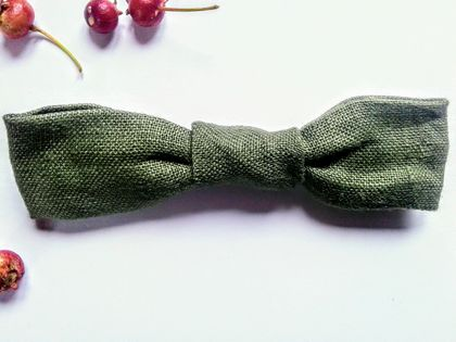 Bow Tie | FOREST Linen | For Baby or Toddler | Fully Adjustable | Unisex | Wedding or Birthday
