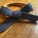 Hand Tied Bow Headband - Charcoal